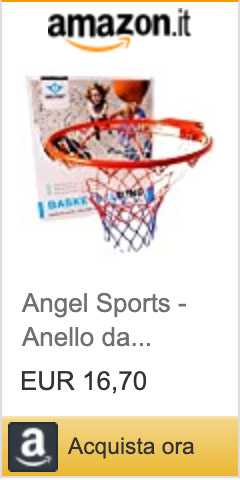 Angel Sports - Anello da Basket con Rete