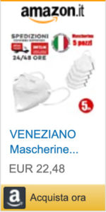 5 Mascherine protettive FFP2 Italia