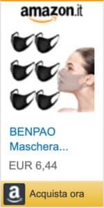 6 maschere nere antipolvere lavabili unisex